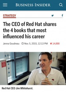 Red Hat CEO and The Goal